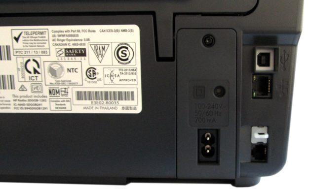 HP-Officejet-Pro-6830-Anschluesse