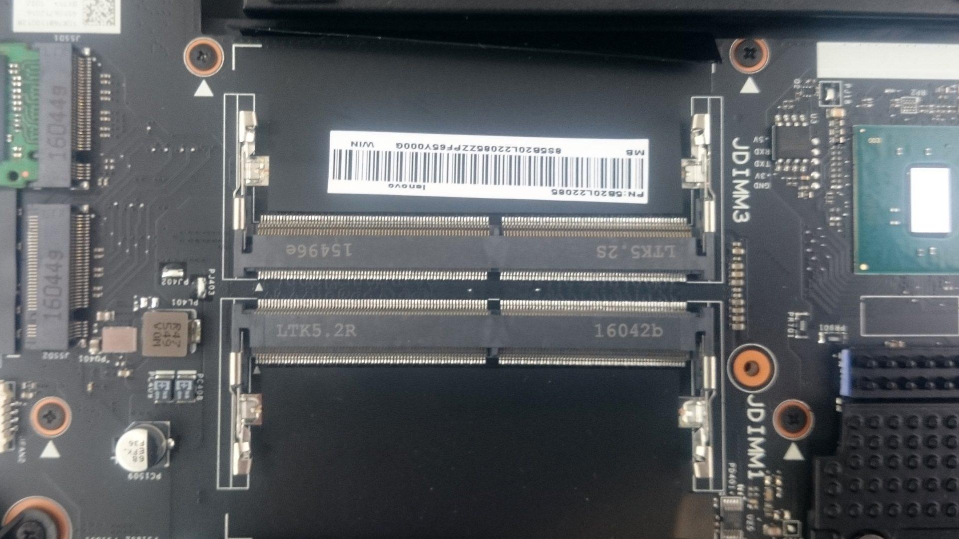 Lenovo Y900-17ISK – Freie RAM-Sockel