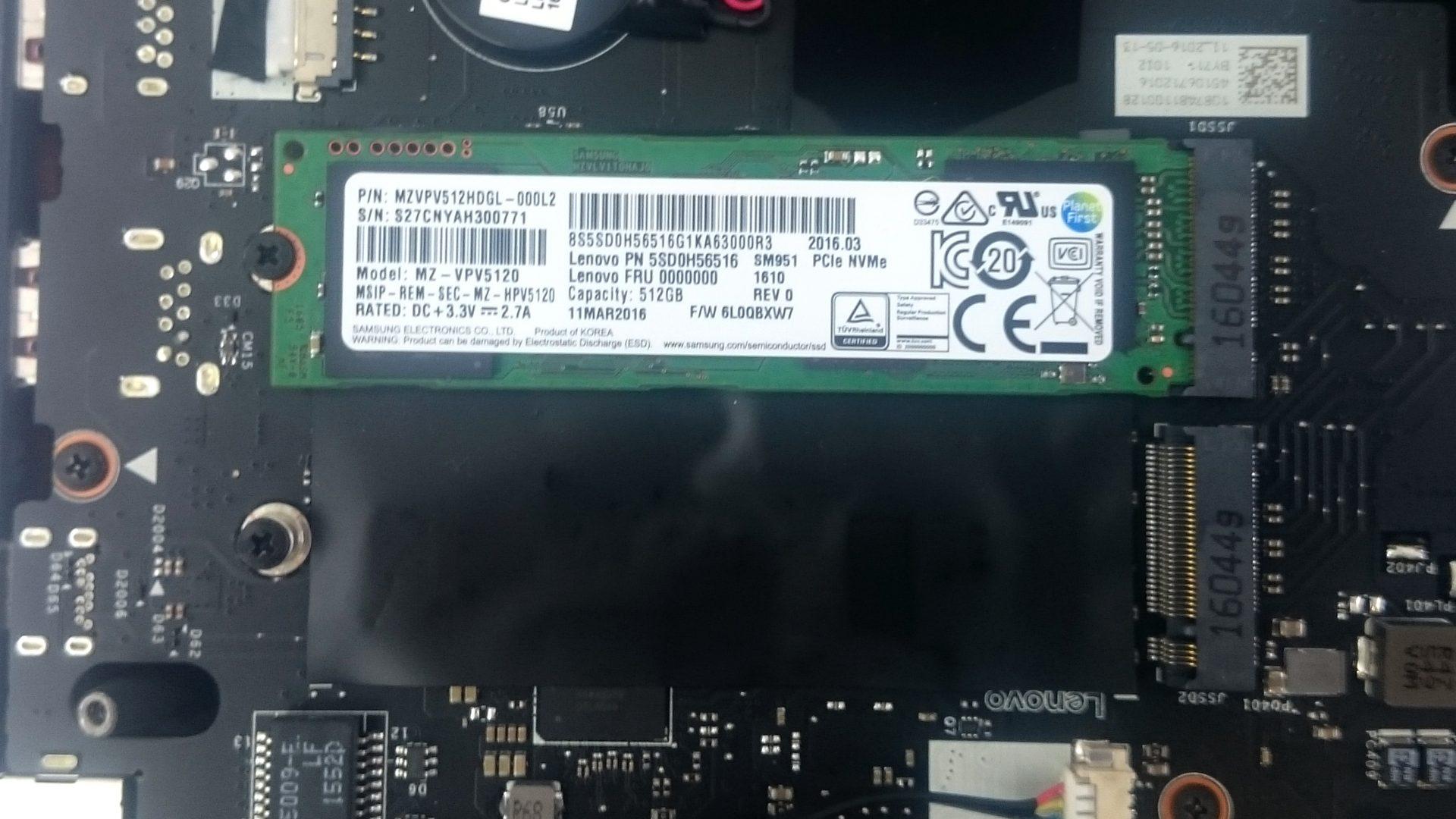 Lenovo Y900-17ISK – M.2-Modul / freier Slot