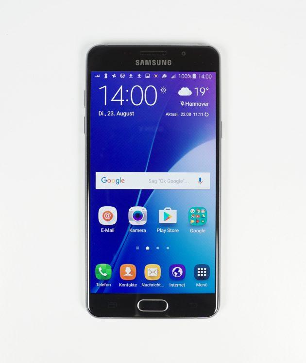 Samsung Galaxy A5 2016 Frontansicht Display ein