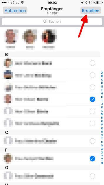 WhatsApp Broadcast-Liste 04 Liste erstellen