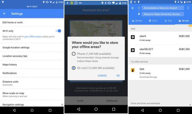 Google Maps mit neuem WiFi-Modus und Speicherort für offline-Nutzung der Karten