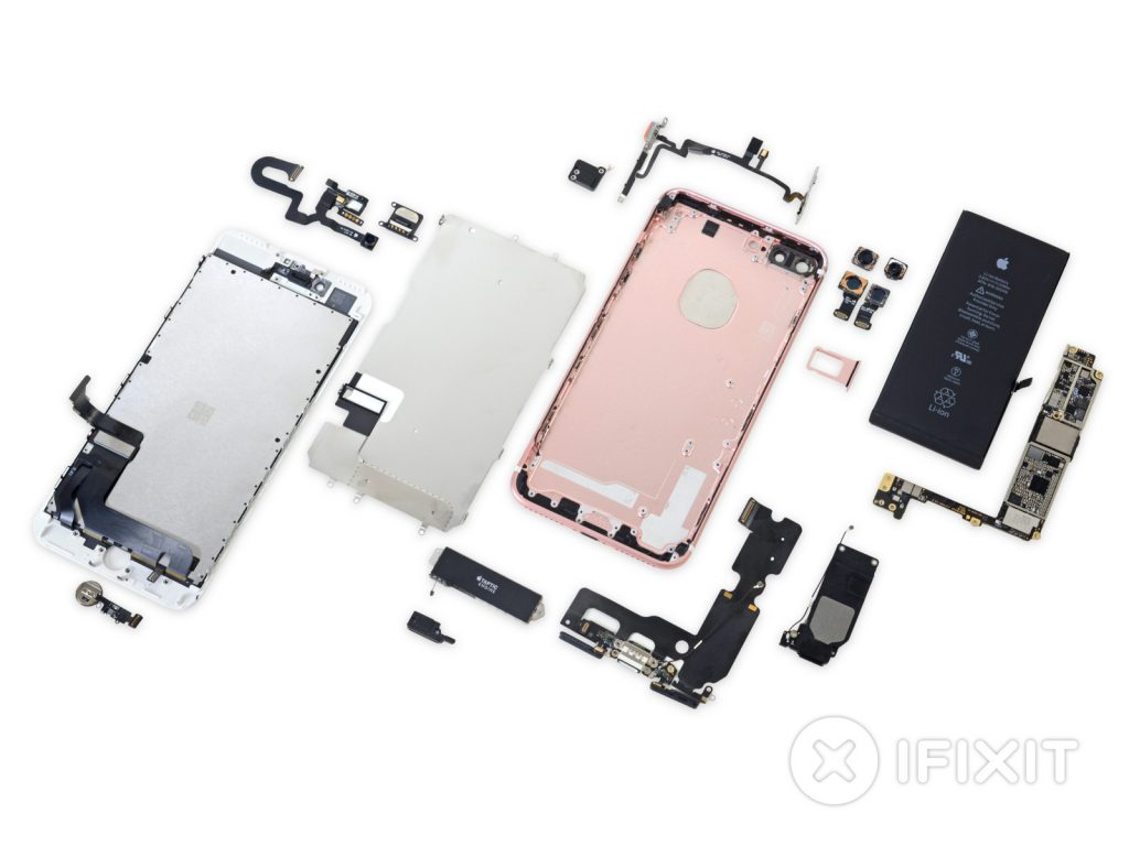iPhone 7 Plus und Apple Watch 2nd Gen. im iFixit Teardown