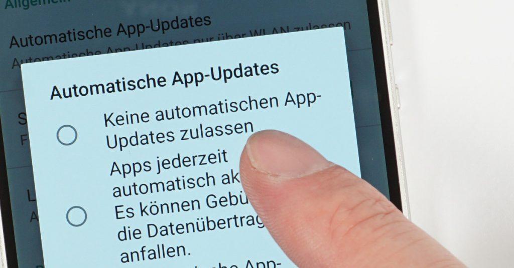 Android: Automatische App-Updates in Google Play einschränken