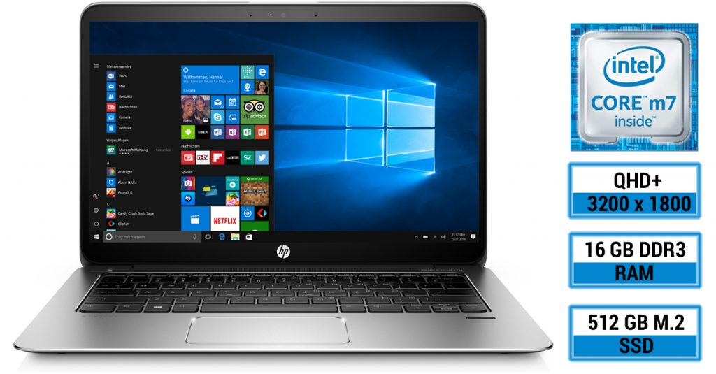 Test: HP EliteBook 1030 G1 X2F03EA – Edles Ultrabook  mit 13,3″ QHD+ Multi-Touch Display