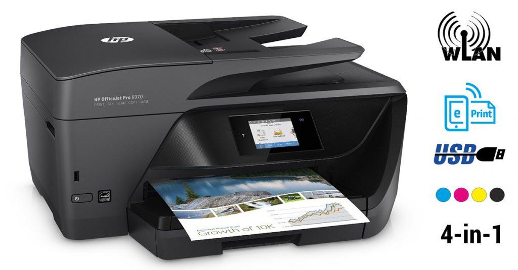 HP OfficeJet Pro 6970 im Test – Instant Ink fähiger 4-in-1-Tintenstrahldrucker