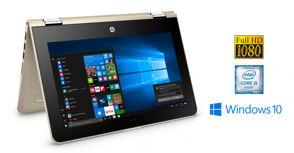 HP Pavilion 13-u003ng x360 – Edles Convertible-Notebook mit Windows 10 im Test