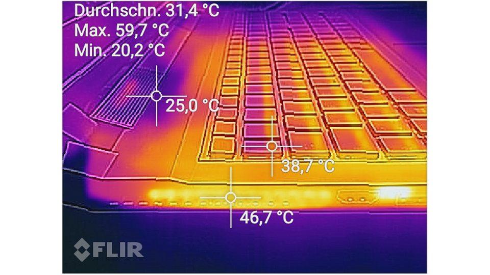 Hitzemessung Seitlich