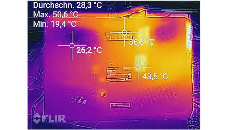 Hitzemessung Unterseite