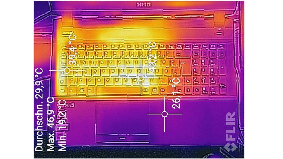Hitzemessung Tastaturseite