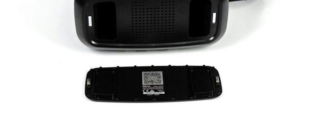 Das Visier der Trust GXT 720 besitzt einen QR-Code, den man zur Benutzung der Google App Cardboard einscannt.