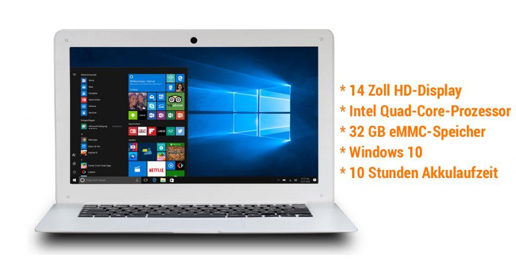 Kurztest: Verico UniBook 14 mit extrem langer Akkulaufzeit