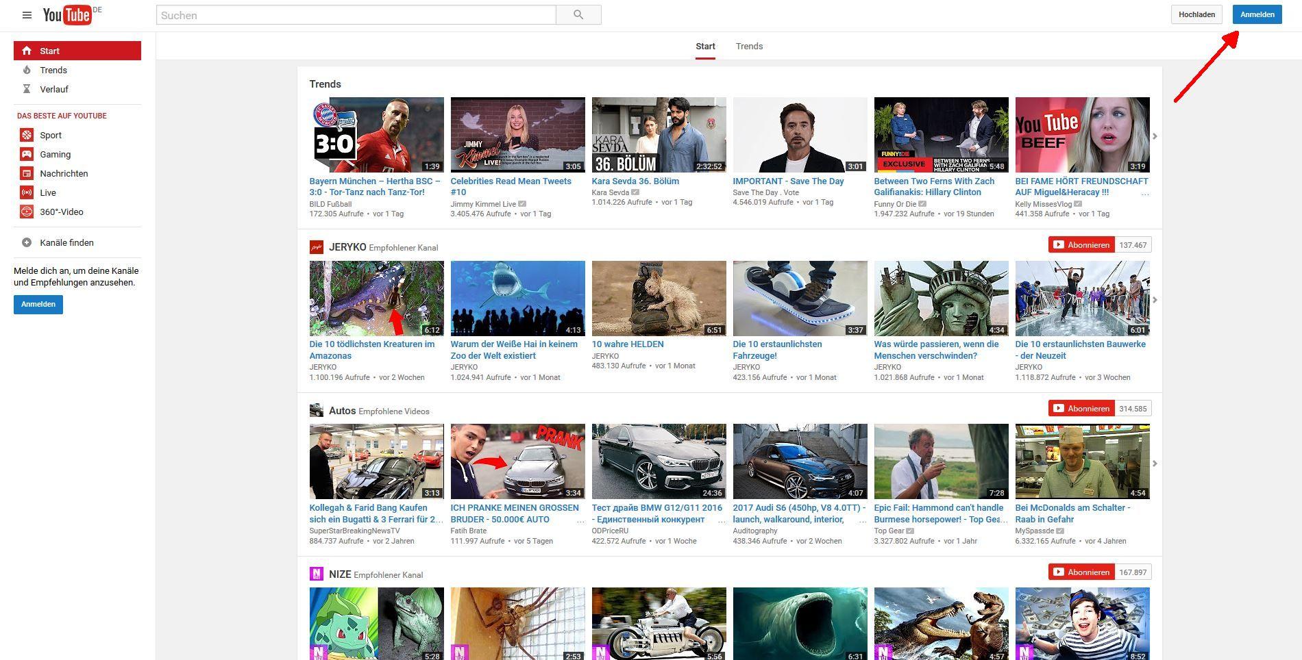 Gegen Doofe Videos Youtube Videoempfehlungen Zurücksetzen