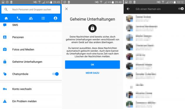 Facebook führt im Messenger geheime Chats ein
