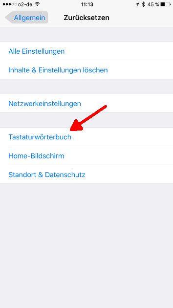 iOS Autokorrektur Tastatur aufrufen