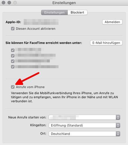 iPhone-Anrufe 05 Anrufe vom iPhone auf Mac deaktivieren