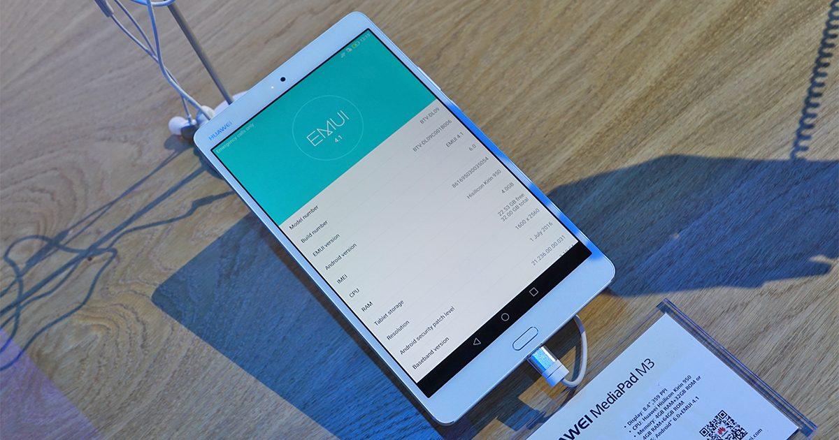 IFA 2016: Huawei MediaPad M3 vorgestellt