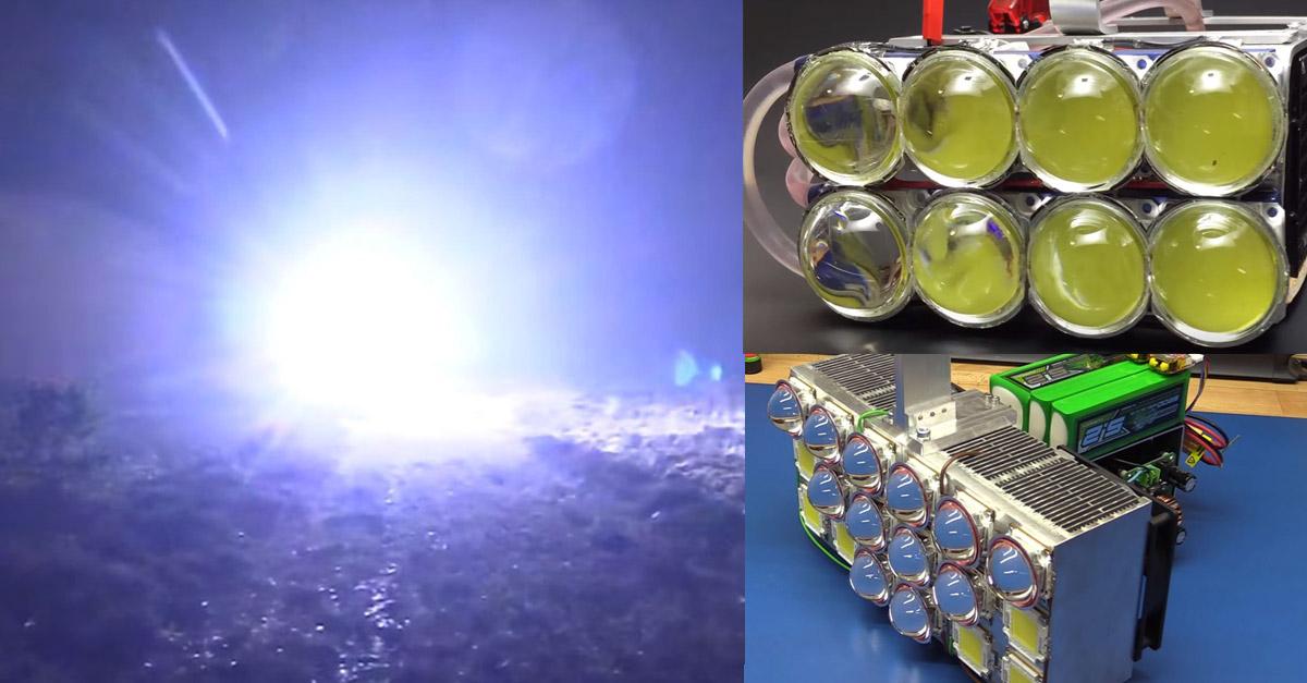 taschenlampe 100000 lumen