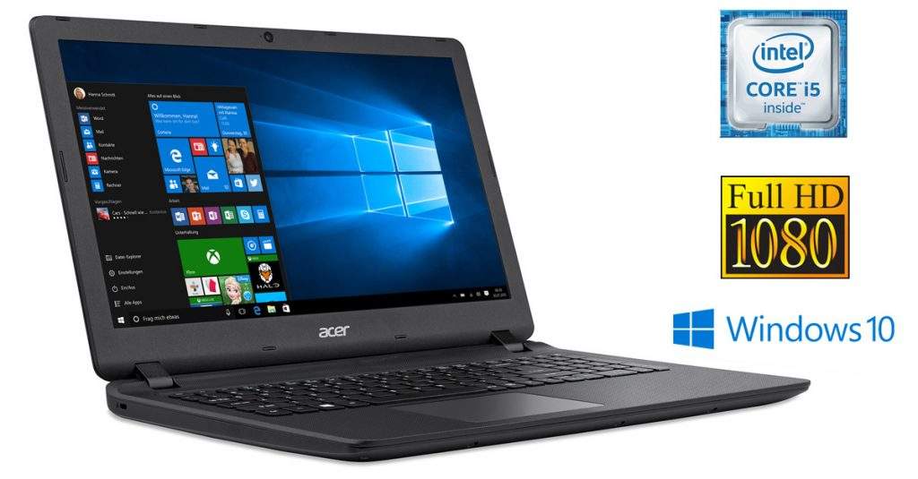 Acer Aspire ES1-572-51UG – günstiges Allround-Notebook mit Full-HD-Display im Test