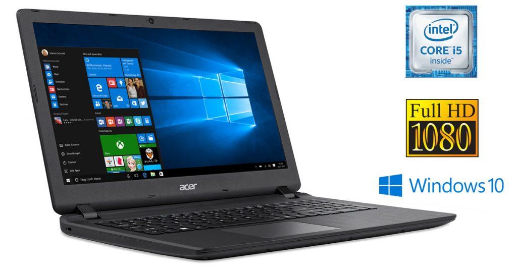 Acer Aspire ES1-572-51UG – günstiges Allround-Notebook mit Full-HD-Display im Test