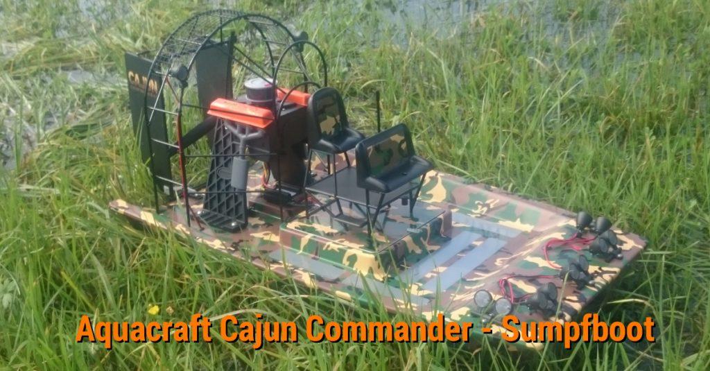 Test: Aquacraft Cajun Commander – R/C-Fahrspaß für Wasser, Schnee und Wiese