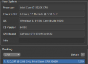 Cinebench MSI OC Profil