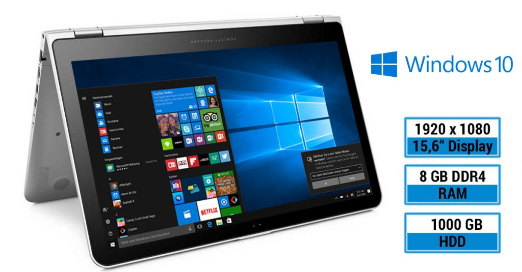 HP ENVY 15-x360 – Convertible-Notebook mit 15,6 Zoll-Display und Intel Iris Grafik 540 im Test