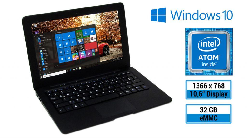 Test: MP Man Windows Netbook NT11 – kompaktes Mini-Notebook mit 10,6-Zoll-Display