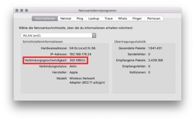 mac-wlan-geschwindigkeit-maximale-verbindungsgeschwindigkeit