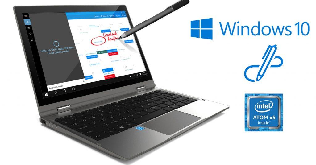 Odys Vario Pro 12 – Convertible Notebook mit 11,6-Zoll-Display und Windows Ink Unterstützung