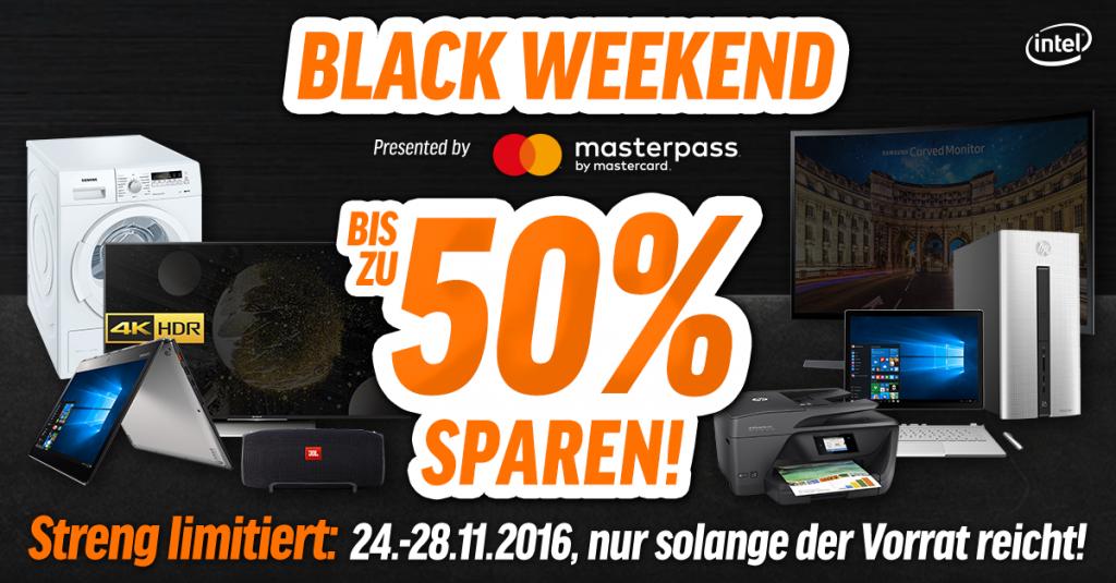 Black Weekend: Bis zu 50% auf ausgewählte Produkte sparen