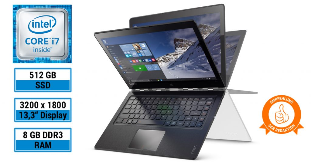 Test: Lenovo YOGA 900-13ISK 80MK00L7GE – edles Convertible-Notebook für traumhafte 999 €