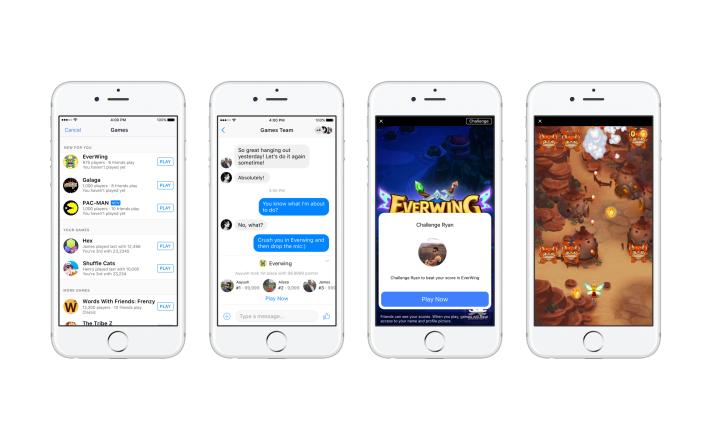 Instant Games: Facebook bringt Spiele-Klassiker in den Messenger