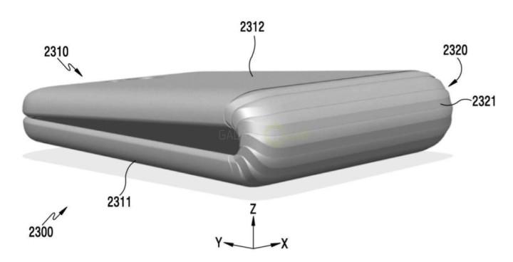 So könnte das faltbare Samsung Smartphone aussehen