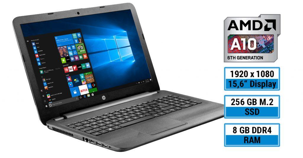 Test: HP 15-ba048ng mit AMD A10-Prozessor, Full HD Display und schnellem SSD-Modul