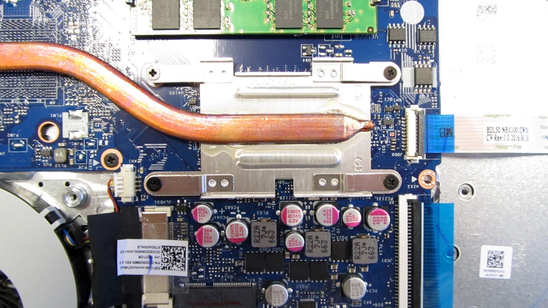 Heatpipe der CPU
