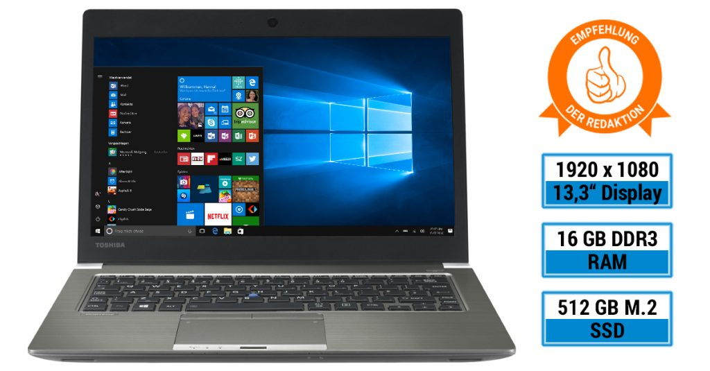 Toshiba Portégé Z30-C-16P – Edles Business-Ultrabook mit 13,3-Zoll-Display im Test
