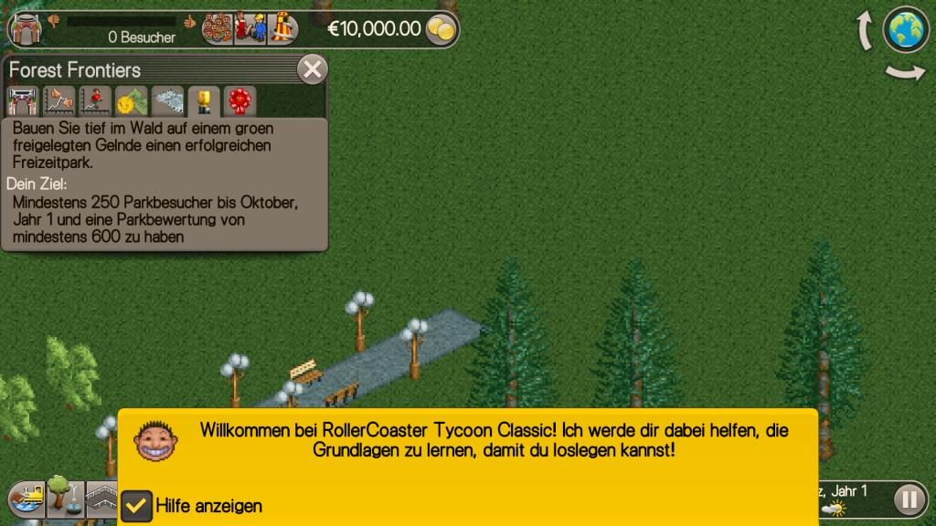 RollerCoaster Tycoon Classic für Android und iOS verfügbar