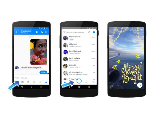 Neue Kamera-Spielerei für den Facebook Messenger