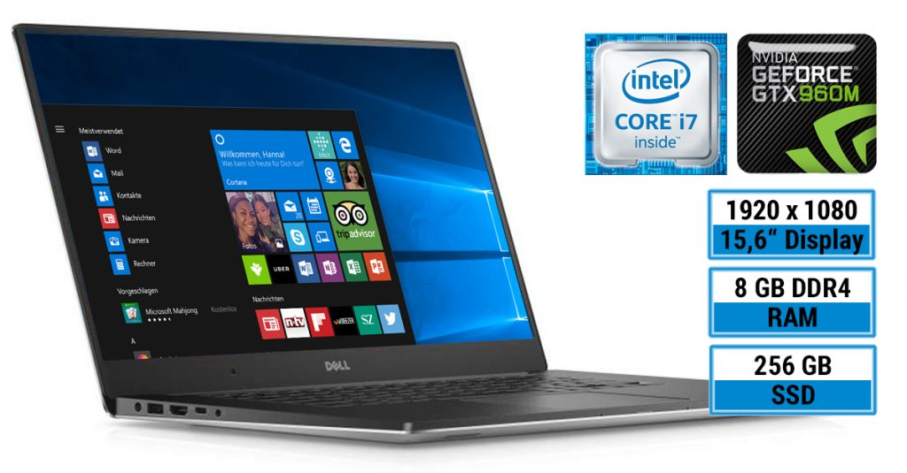 Dell XPS 15 9550-3813 Ultrabook mit InfinityEdge-Display im Test
