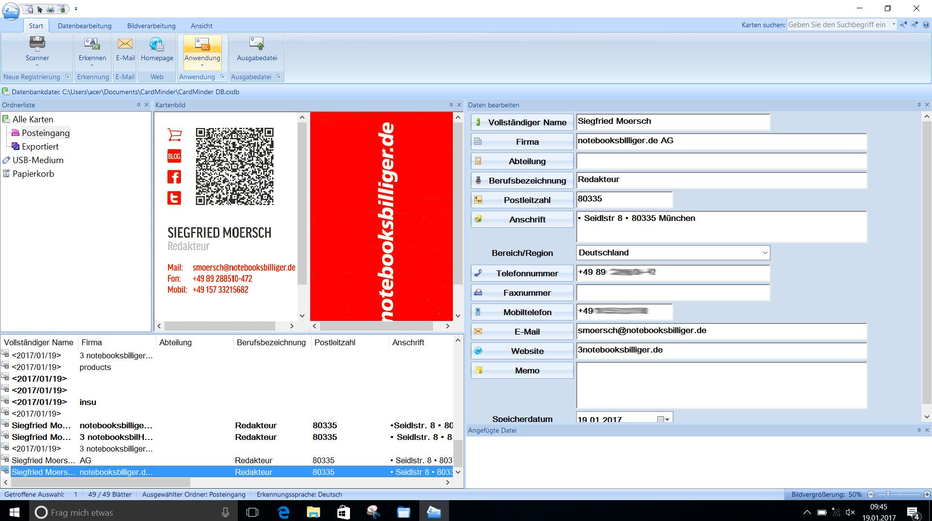 Fujitsu Scansnap Ix500 Schneller Duplex Dokumentenscanner