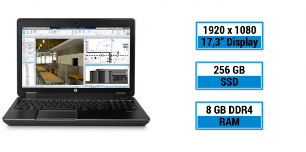 HP ZBook 17 G3 T7V62ET