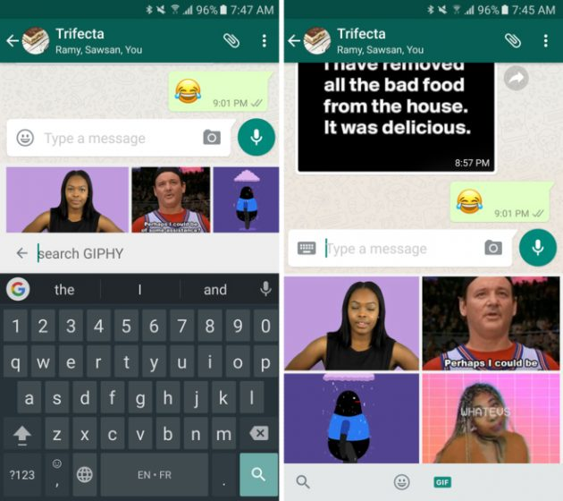 Gifs: WhatsApp integriert die Giphy
