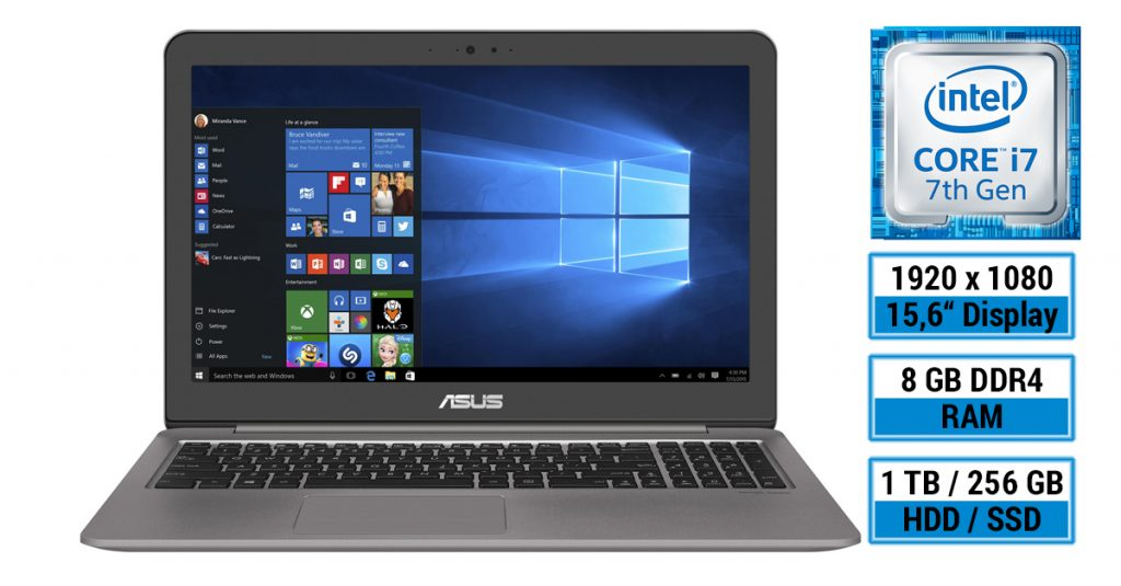 Test: ASUS Zenbook UX510UW-CN058T – flaches 15,6 Zoll Ultrabook mit Gaming-Ambitionen