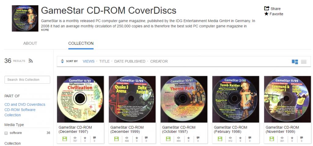Archive.org: 20 Jahre alte Gamestar-CDs als ISO verfügbar