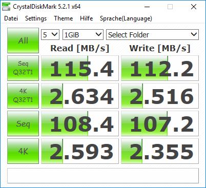 WD MyCloud Ex2 Ultra CrystalDiskMark