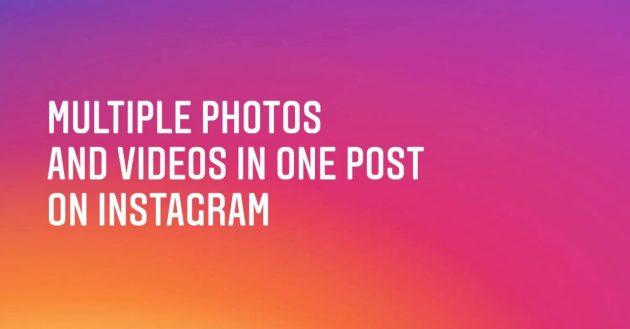 instagram mehrere bilder posting