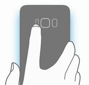 Skizze der Rückseite des Samsung Galaxy S8