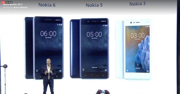 MWC 2017: Nokia 6, Nokia 5 und NOkia 3 vorgestellt