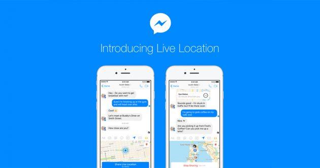 live location sharing im facebook messenger